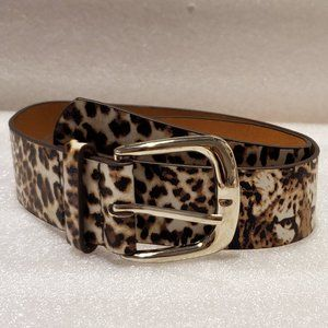 Macy's Leopard-Print Belt, NEW